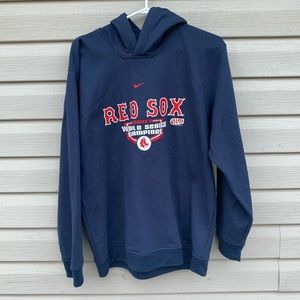 Nike Team Mens XL Boston Red Sox Hoodie Navy